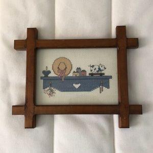 Cross-stitched Framed Art